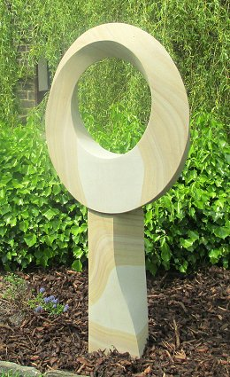 Jim Milner Geometric Sculpture Möbius III on stand