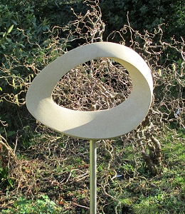 Jim Milner Geometric Sculpture Möbius Egg III