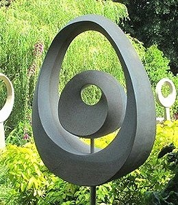 Jim Milner Geometric Sculpture Möbius Egg Yolk I