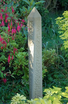 Jim Milner Geometric Sculpture Square Obelisk