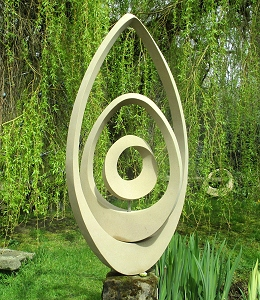 Jim Milner Geometric Sculpture Triple Möbius Egg IV