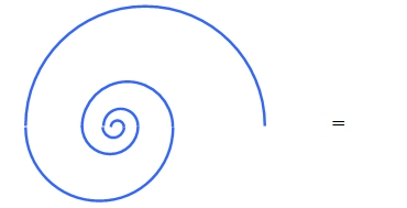 Golden section spiral equation 5