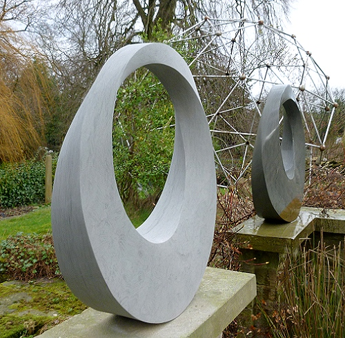 Geometric stone sculpture for Art in the Garden, West lavington Manor